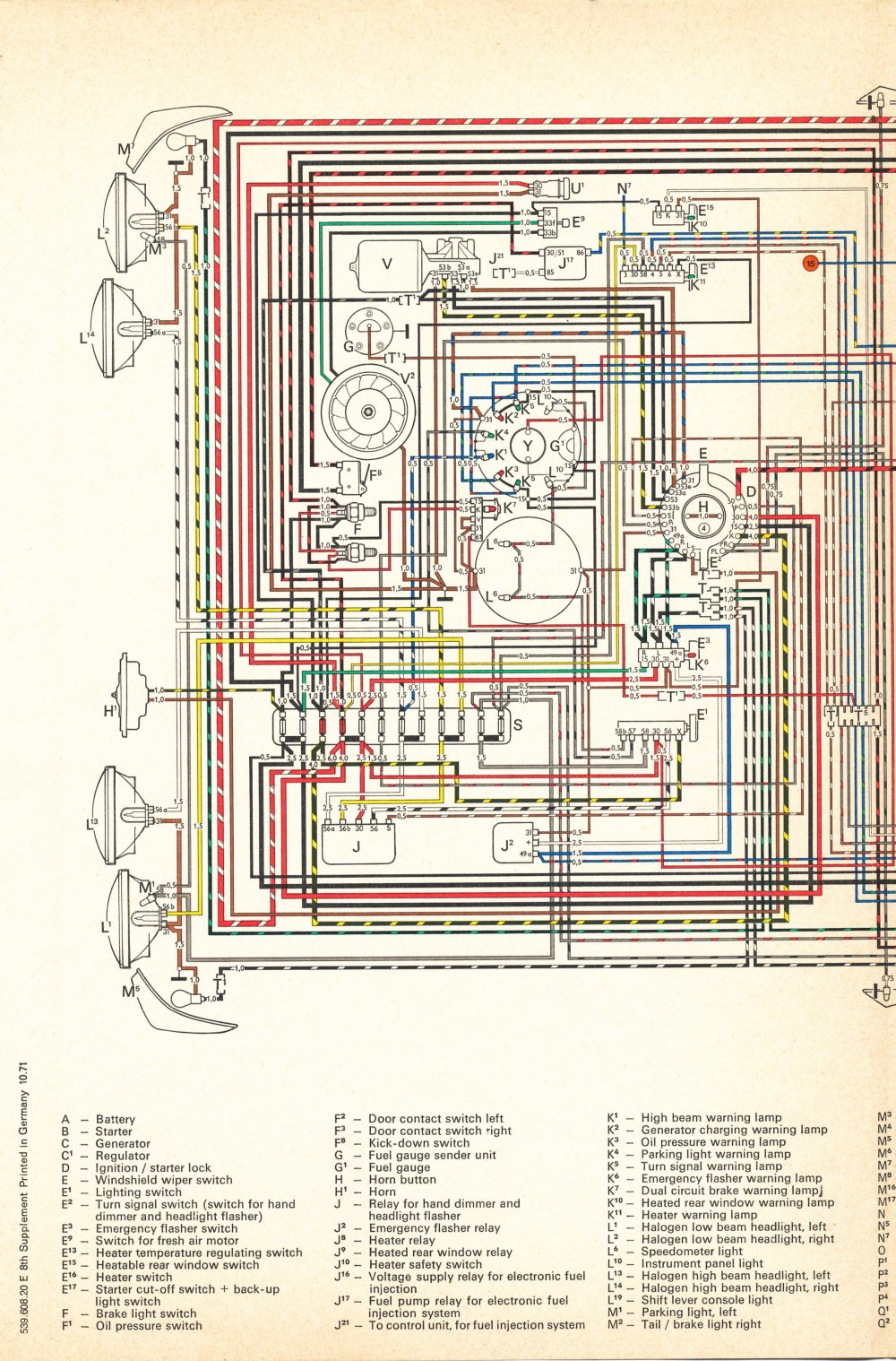 medium resolution of thesamba com type 4 wiring diagrams vw 411 412 1971