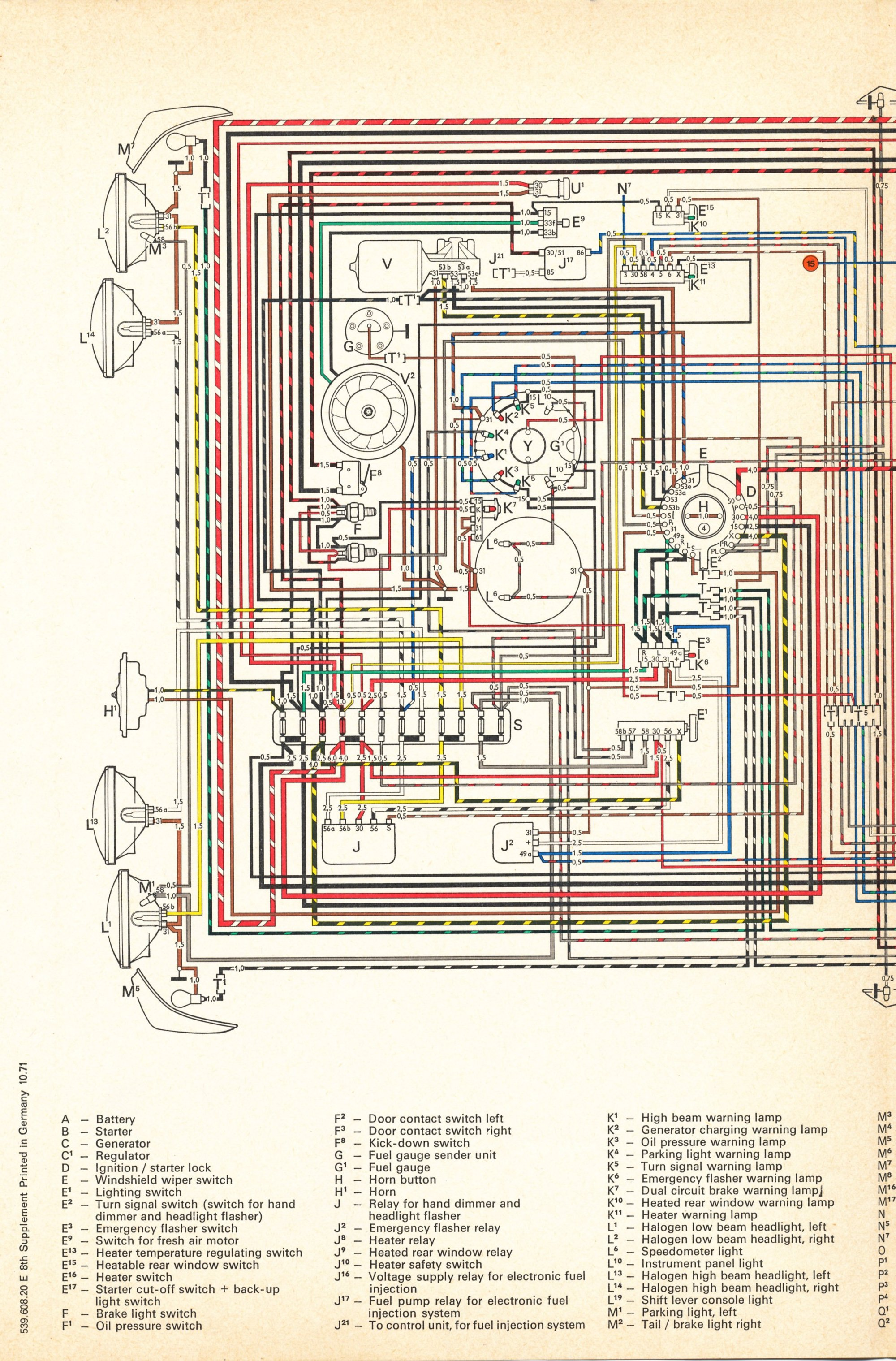 hight resolution of thesamba com type 4 wiring diagrams vw 411 412 1971