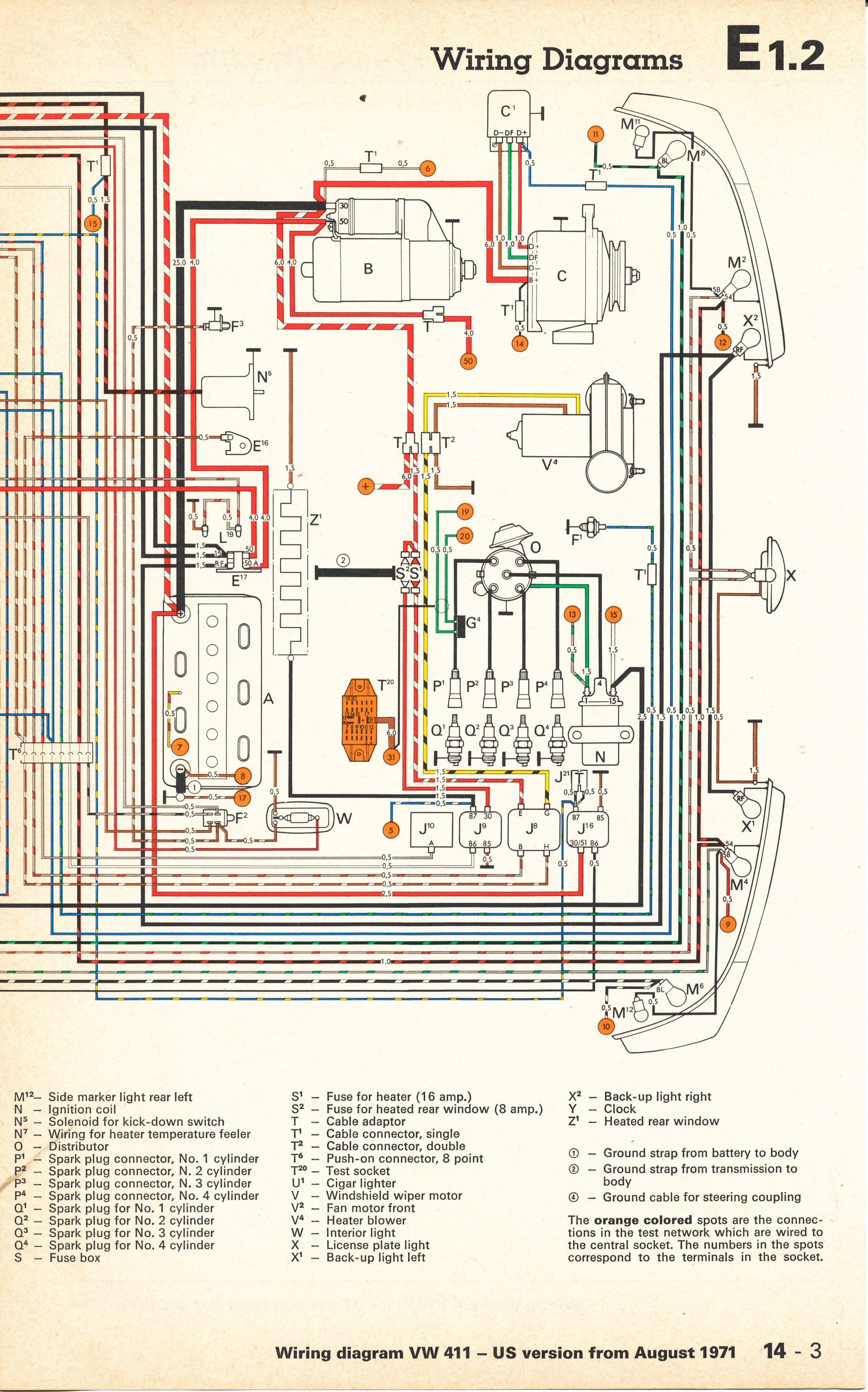 1972 vw bus wiring diagram trailer diagrams 1973 color code free engine