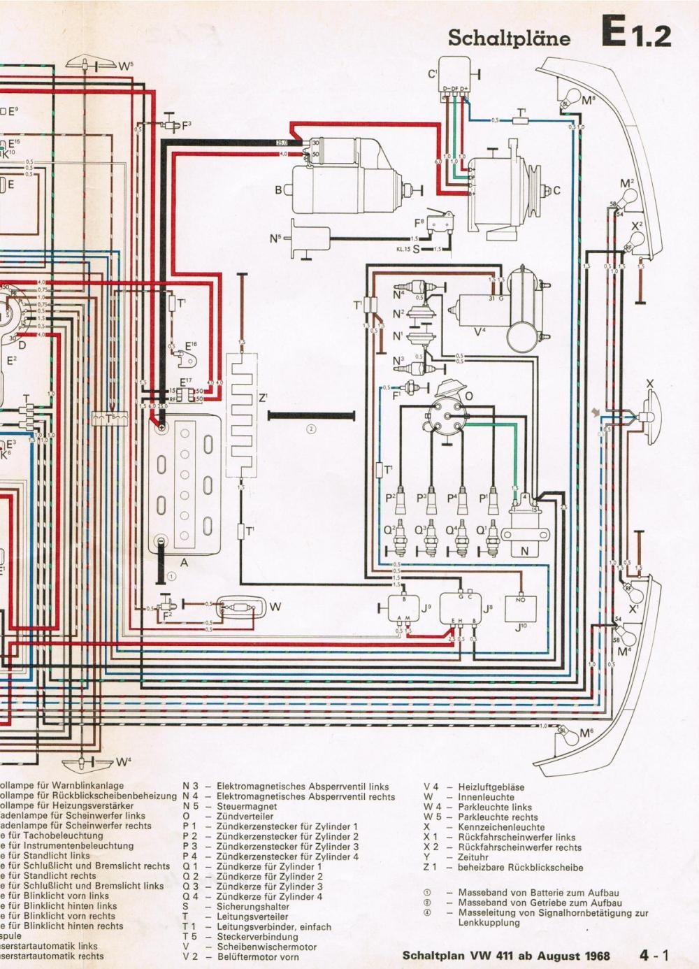 medium resolution of thesamba com type 4 wiring diagrams vw type 4 engine wiring diagram vw type 4 wiring diagram