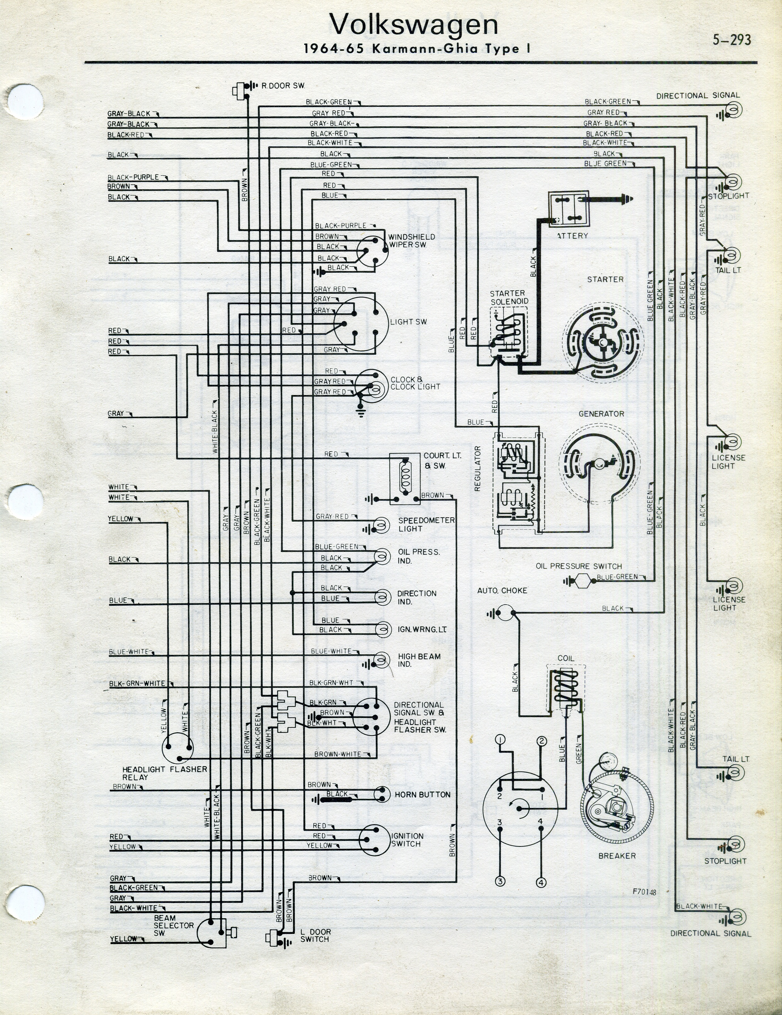 motor wiring diagrams beckett burner diagram thesamba.com :: karmann ghia