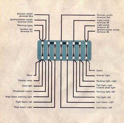 1956 Bentley Wiring Diagram Thesamba Com Type 1 Wiring Diagrams