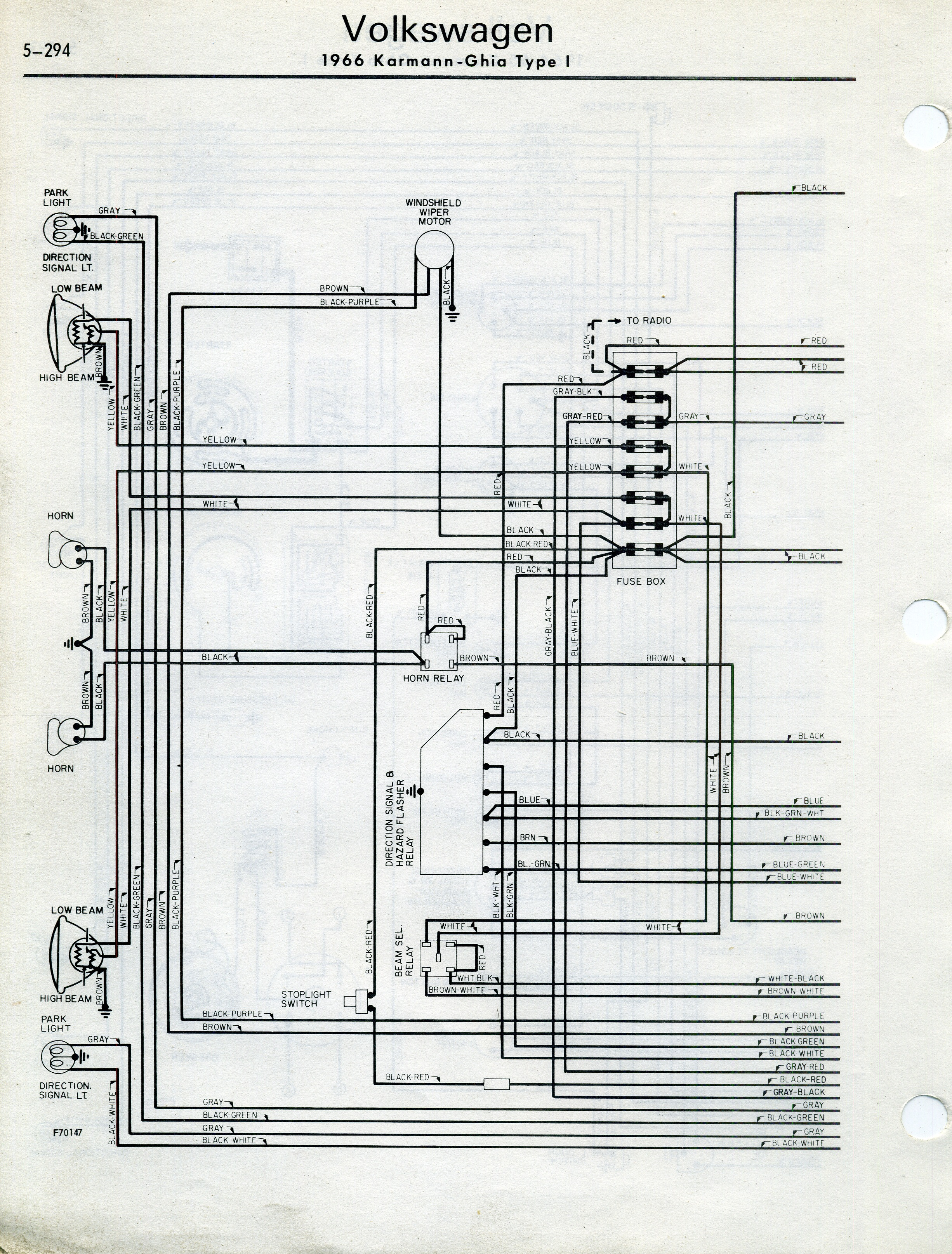 1970 wiring diagram karmann ghia