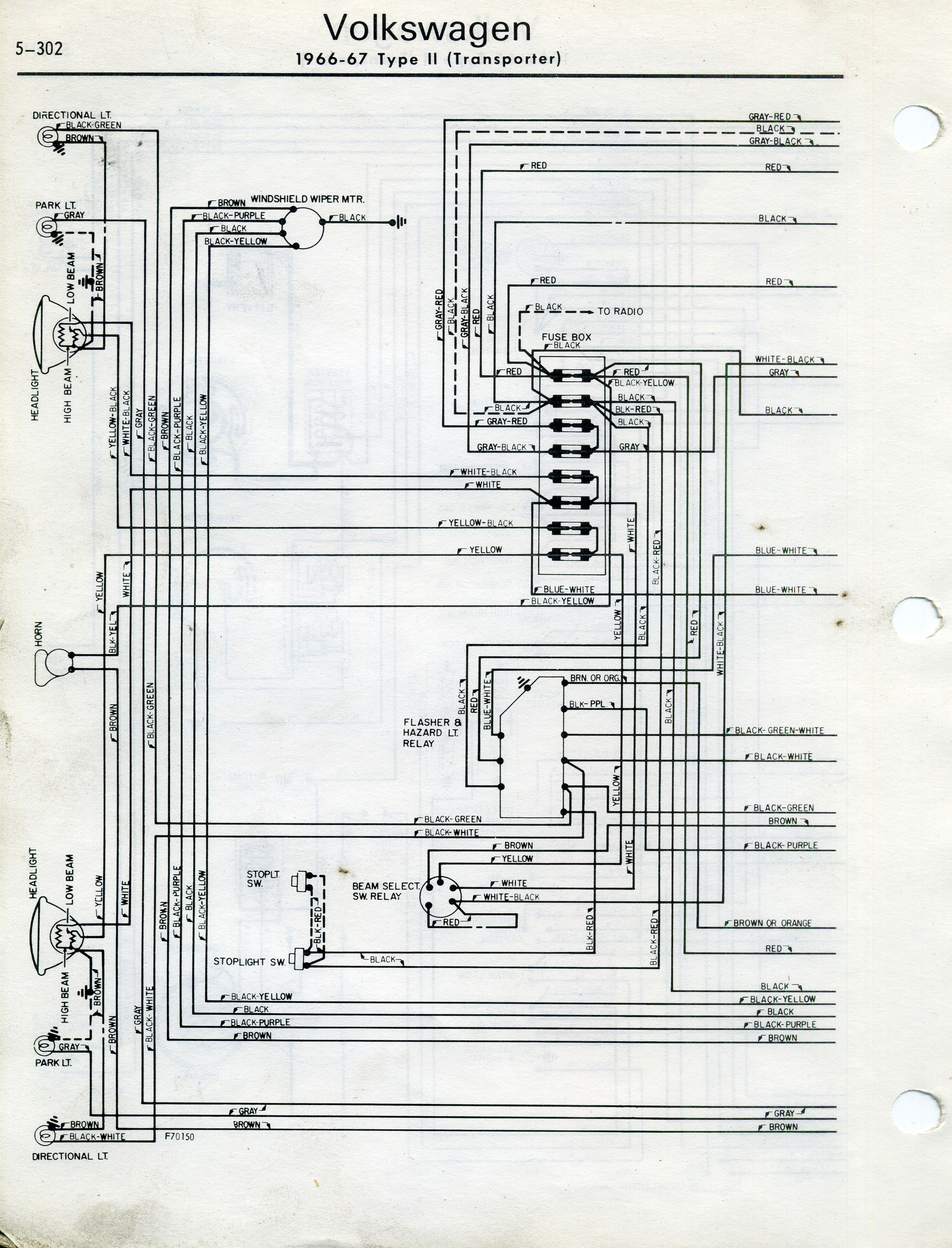 1970 vw transporter wiring diagram ukcar