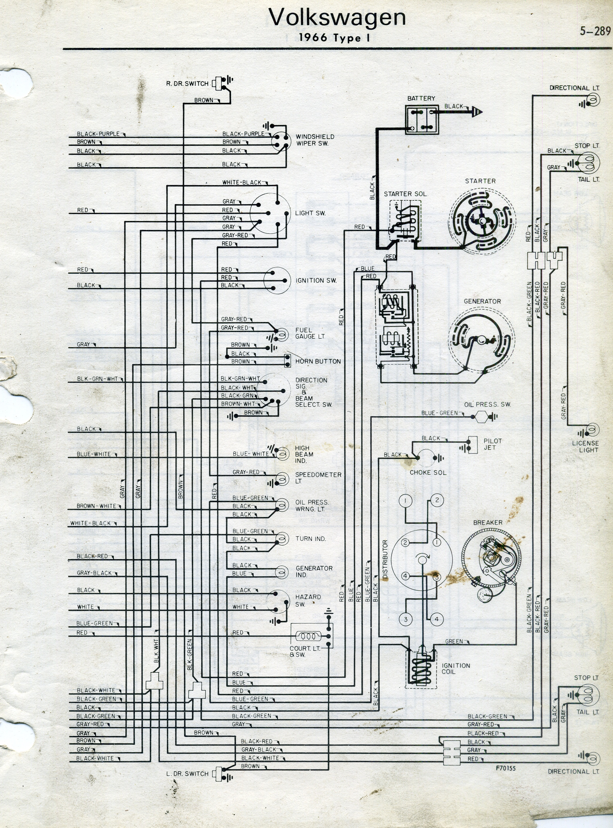 1968 vw type 1 wiring diagram 6 subwoofer thesamba diagrams