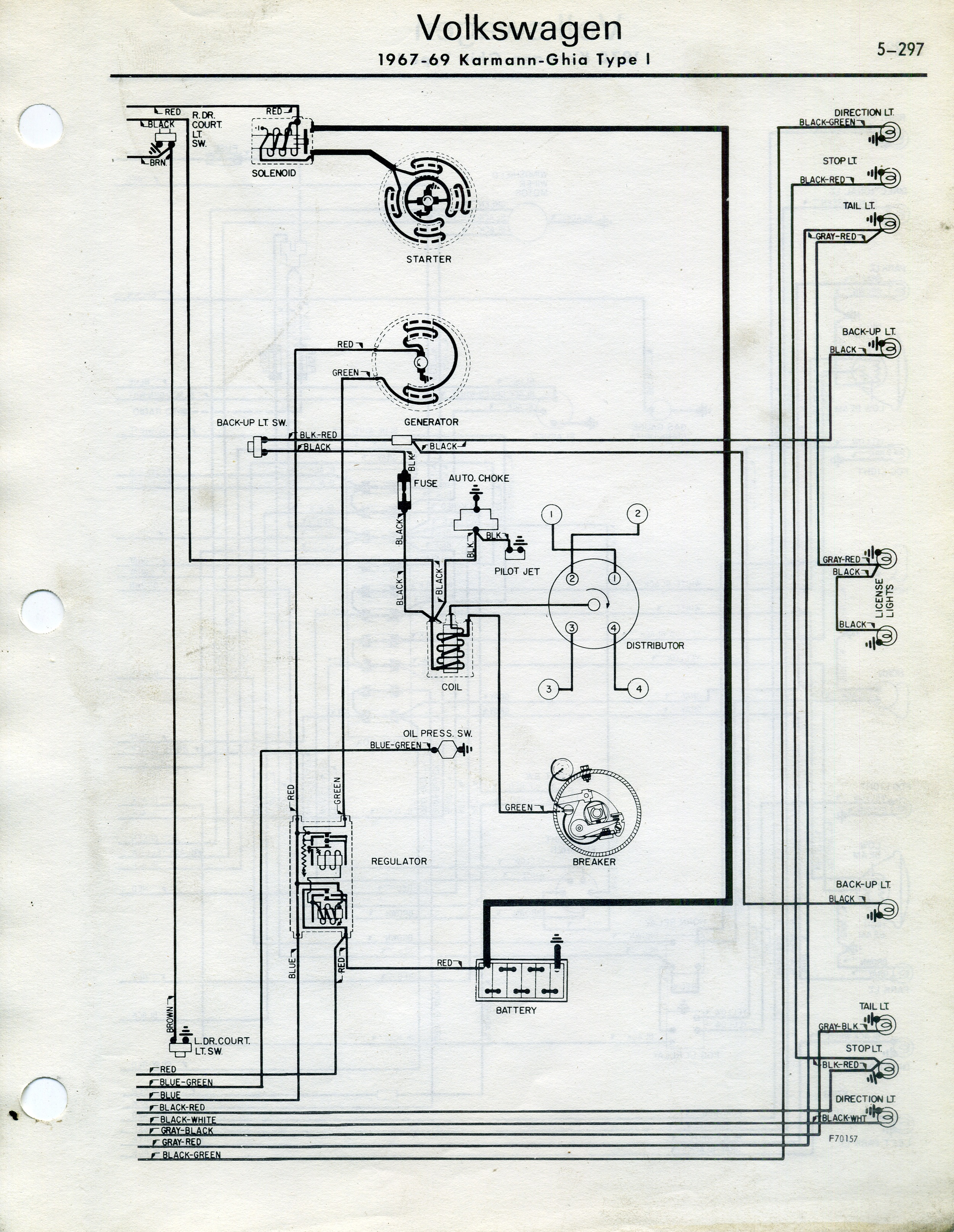 Automotive Fuse Diagram Thesamba Com Karmann Ghia Wiring Diagrams
