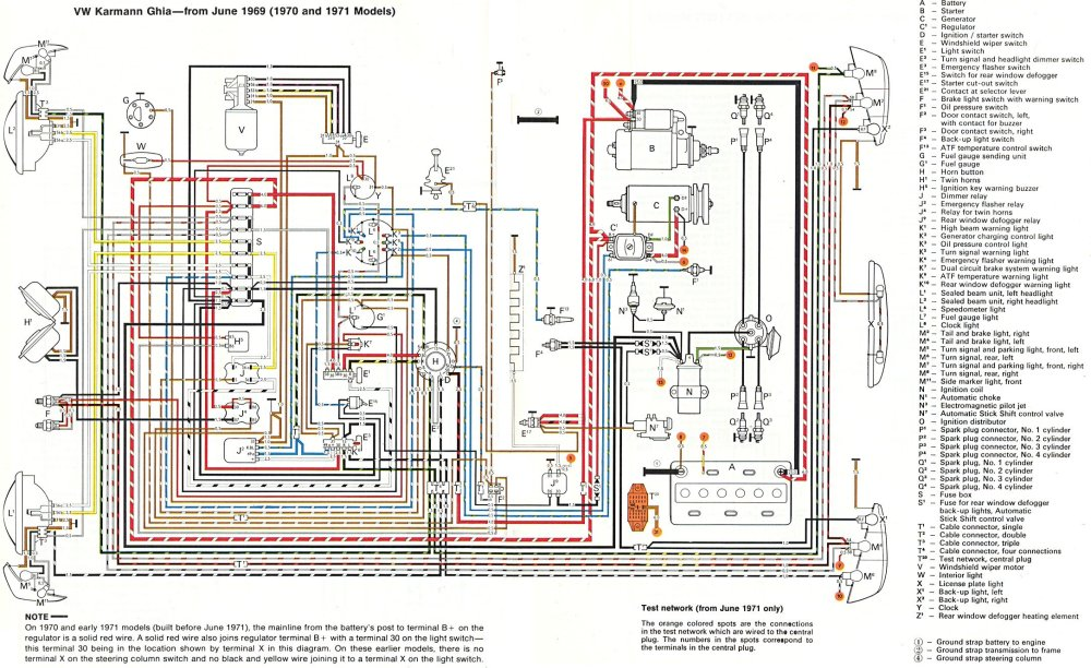 medium resolution of thesamba com karmann ghia wiring diagrams 1973 vw wiring diagram vw 1971 fuse diagram