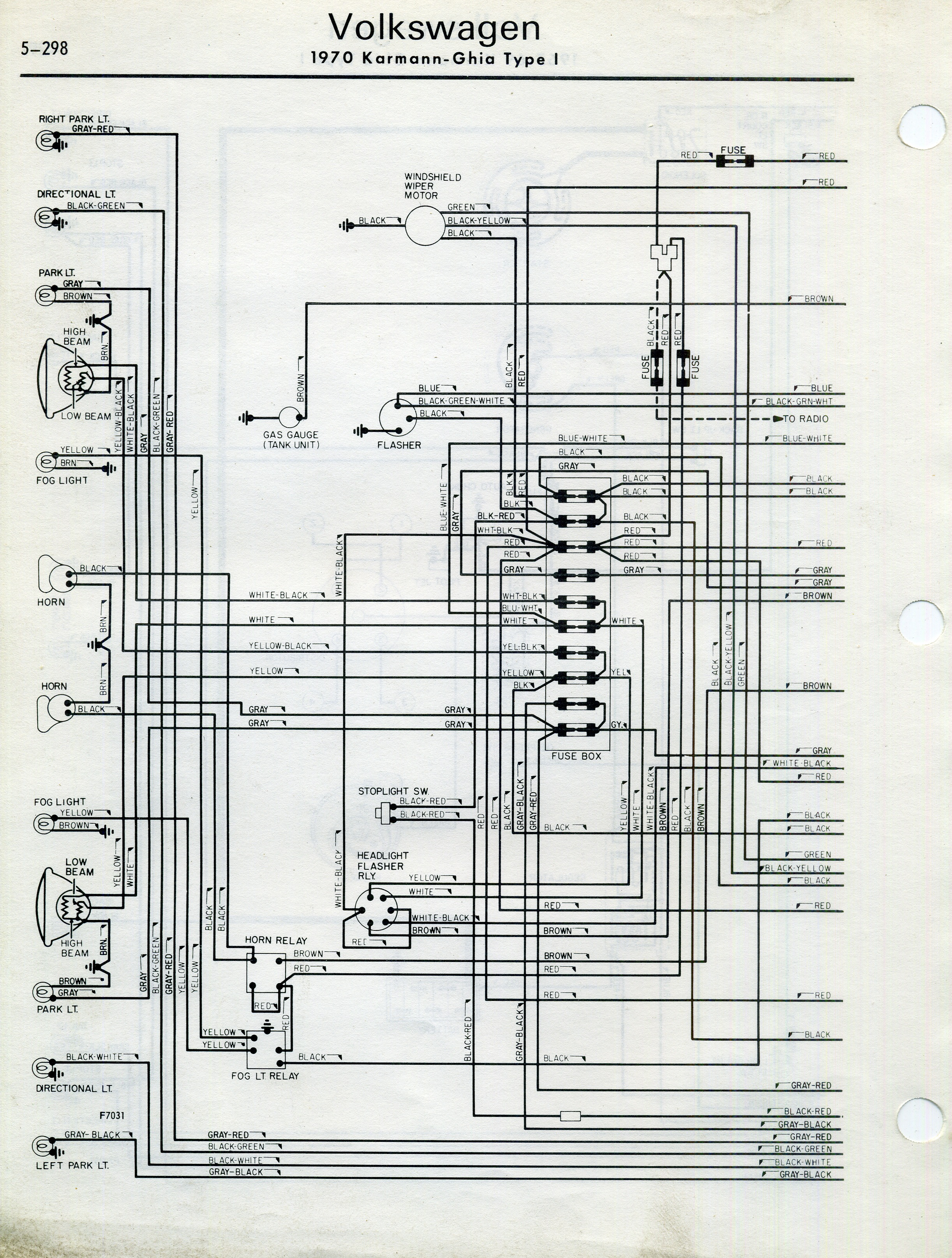1973 volkswagen karmann ghia wiring diagram