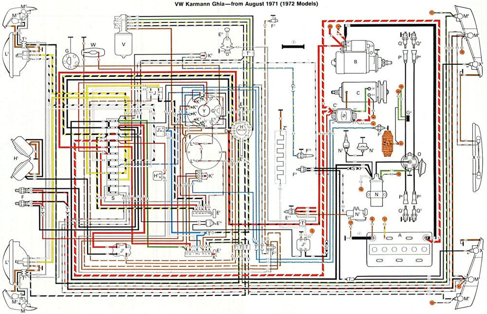 medium resolution of thesamba com karmann ghia wiring diagrams 2005 jetta alternator wiring vw alternator wiring with realy