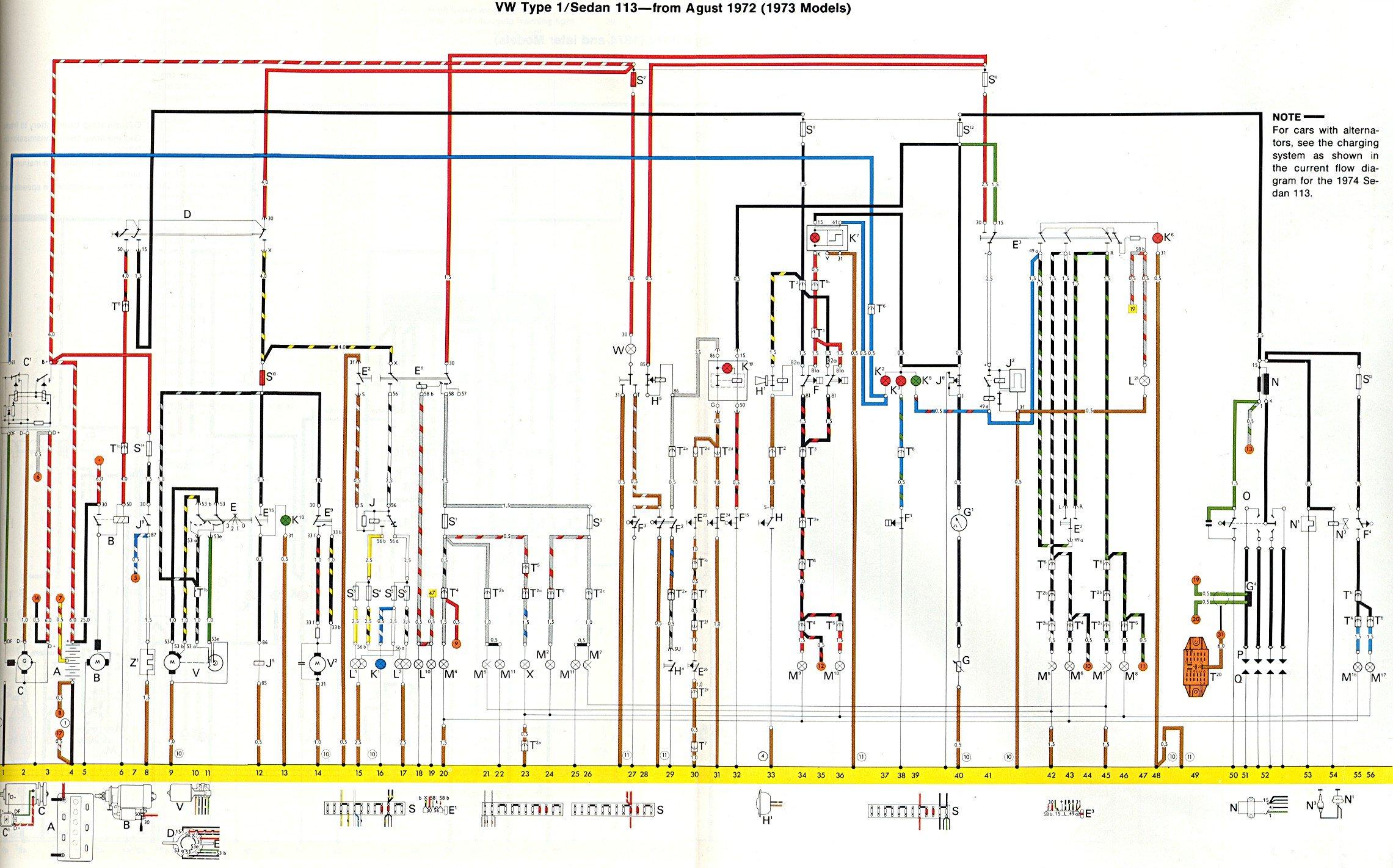 vw beetle wiring diagram 1973 general motors diagrams 39s 43 key schematic