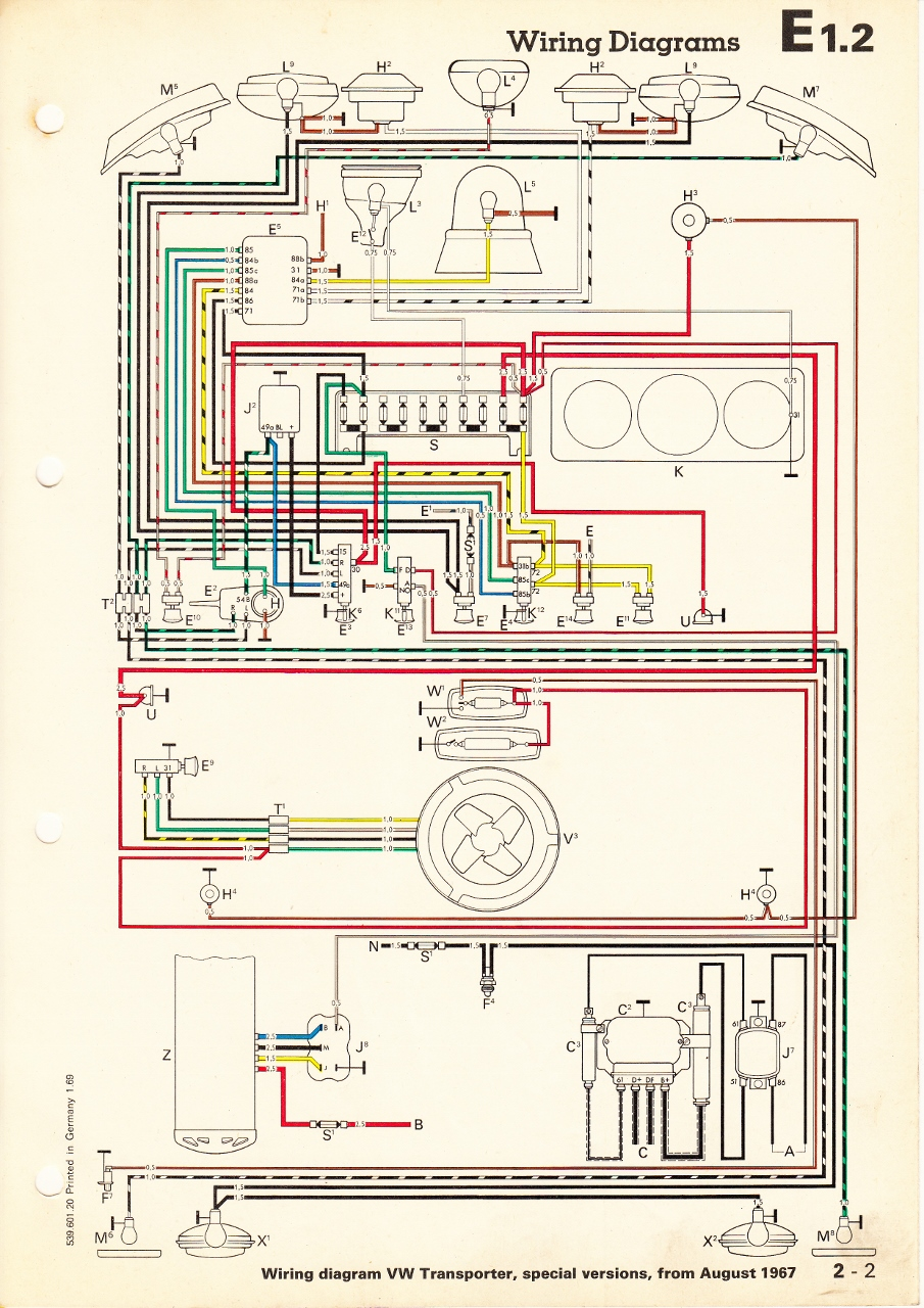 wiring diagram light relay for switch controlled outlet thesamba.com :: type 2 diagrams