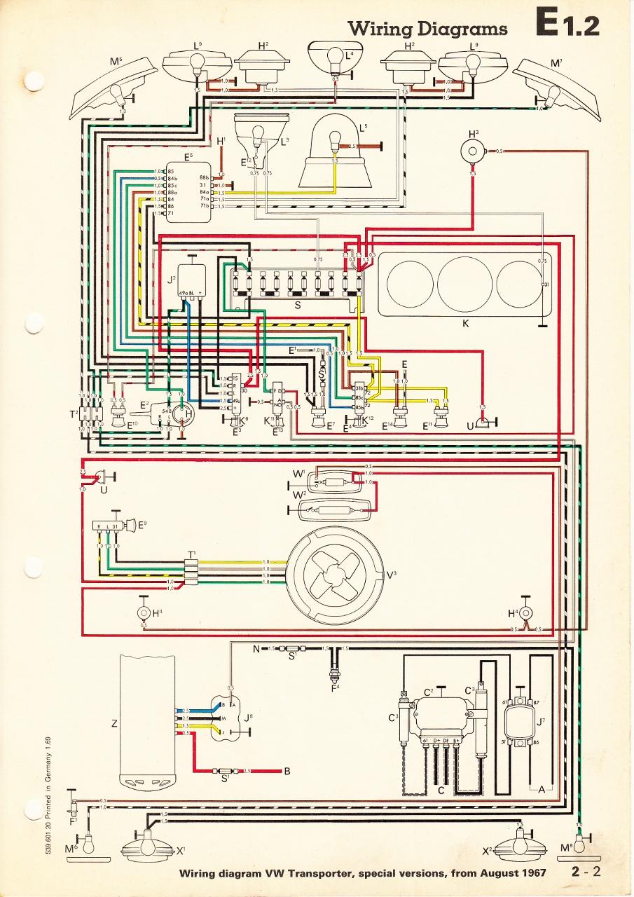 1970 vw type 2 wiring diagram mercedes benz w123 thesamba.com :: diagrams