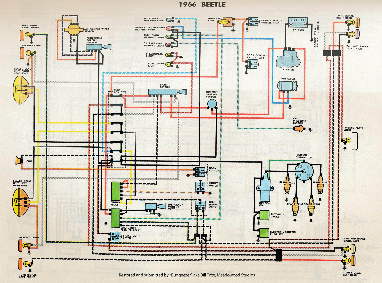 1966 vw beetle wiring diagram