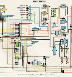 thesamba com type 1 wiring diagrams 1964 ford f 250 truck wiring diagram 1967 vw wiring diagram [ 3111 x 2288 Pixel ]