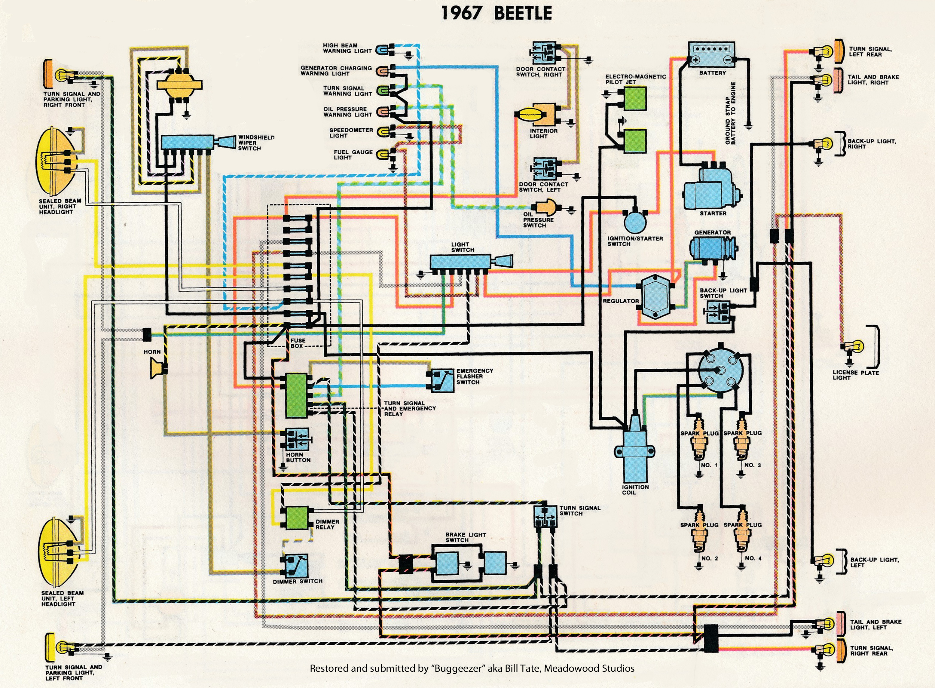 vw beetle wiring diagram holden vectra stereo 1966 motor get free image about
