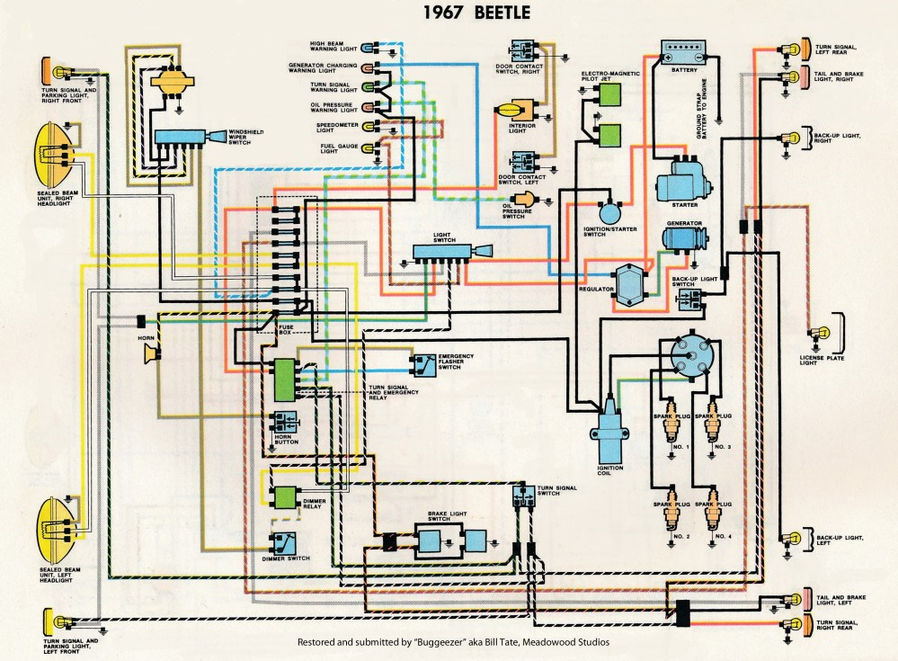 medium resolution of 1967 vw beetle wiring diagram wiring diagram  detailed 1971 vw wiring diagram colored