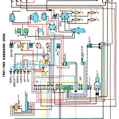 Vw Beetle Wiring Diagram 1966 The Cask Of Amontillado Story Thesamba Karmann Ghia Diagrams