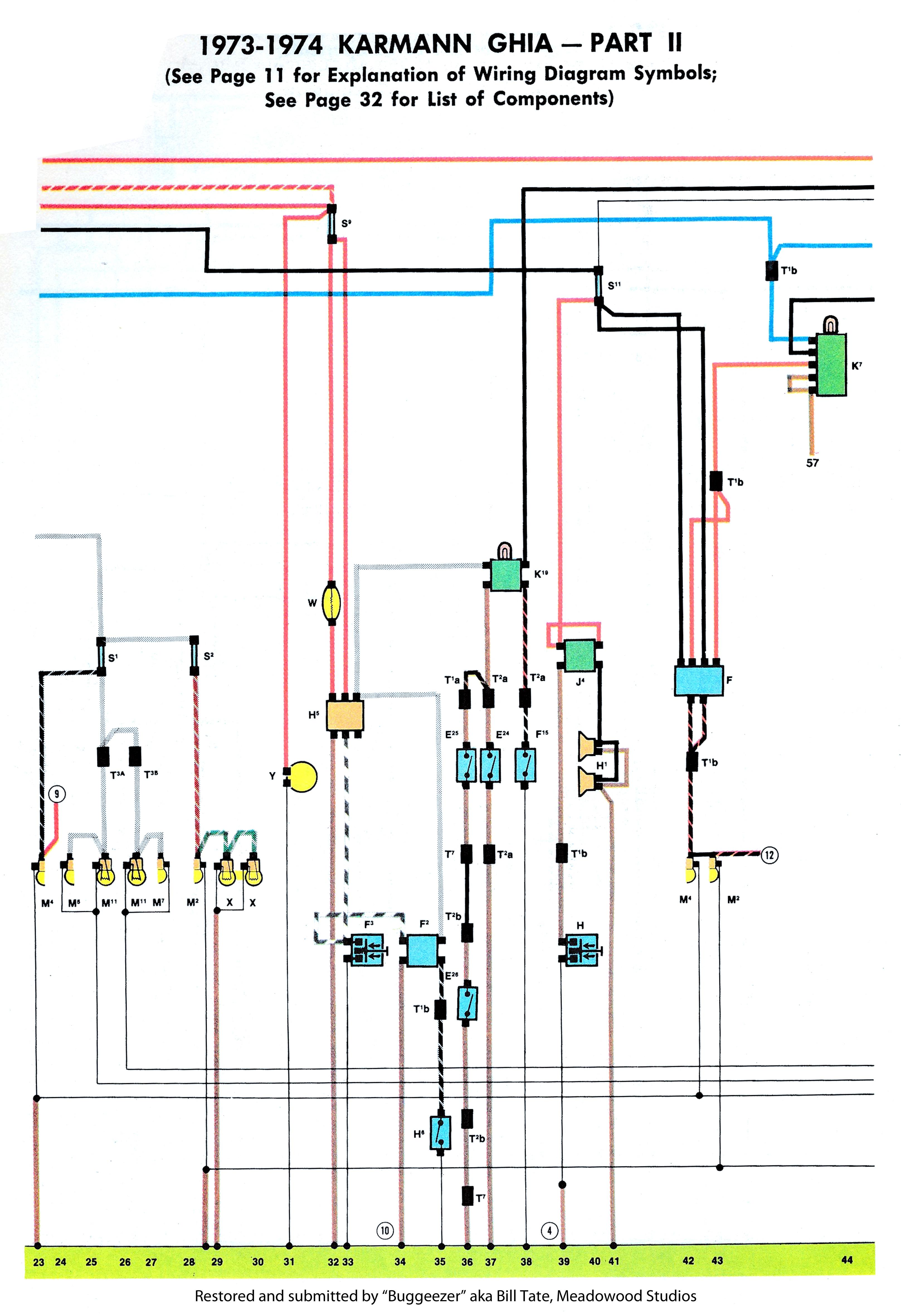 Beetle Fuse Diagram Wiring Schematic Thesamba Com Karmann Ghia Wiring Diagrams