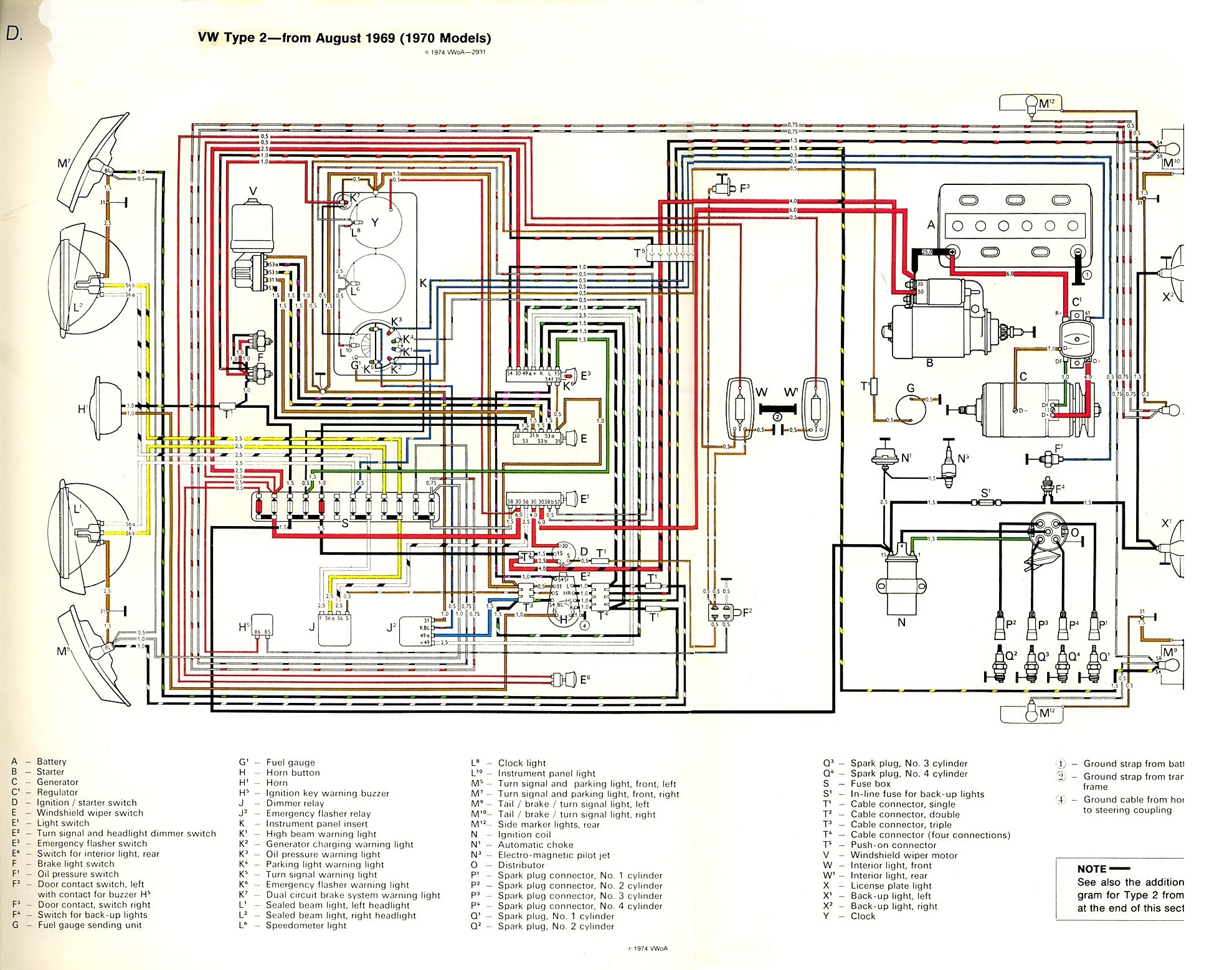 hight resolution of thesamba com type 2 wiring diagrams1974 vw generator wiring 17