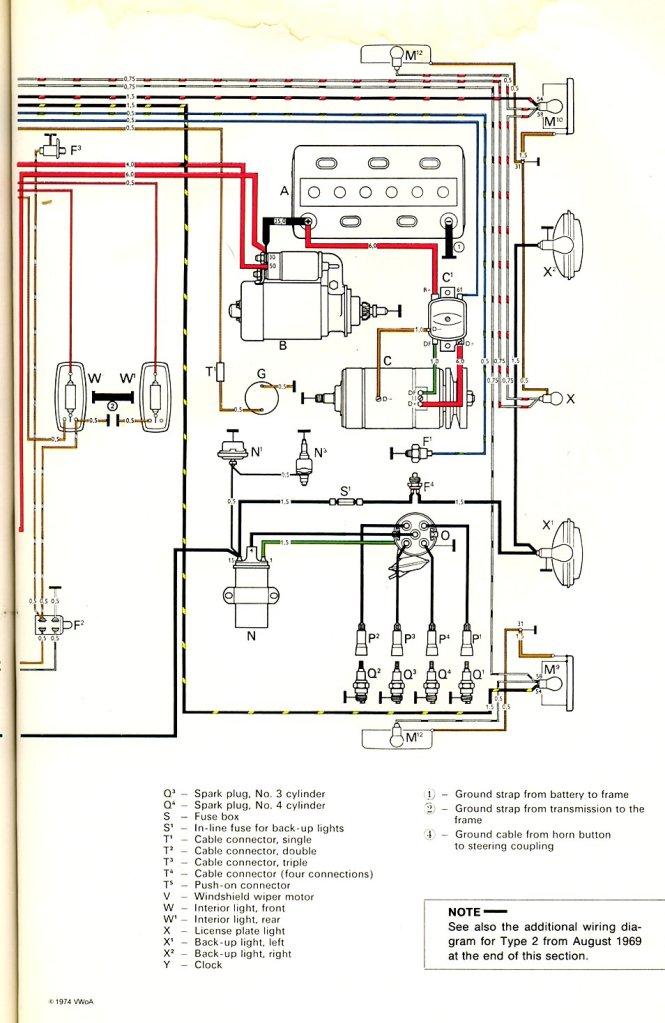 1972 vw bug motor wiring diagram wiring diagram 1966 beetle wiring diagram thegoldenbug