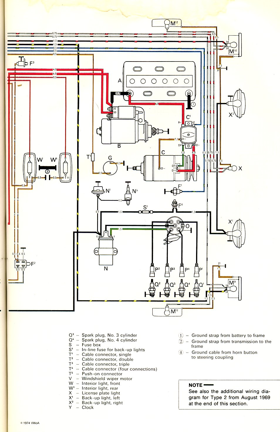 hight resolution of 74 vw wiring diagram for altinator