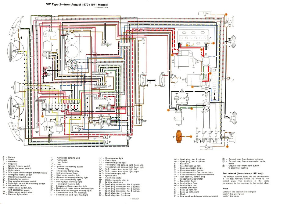 medium resolution of thesamba com type 2 wiring diagrams vw beetle wiring diagram 71 vw bus fuse box