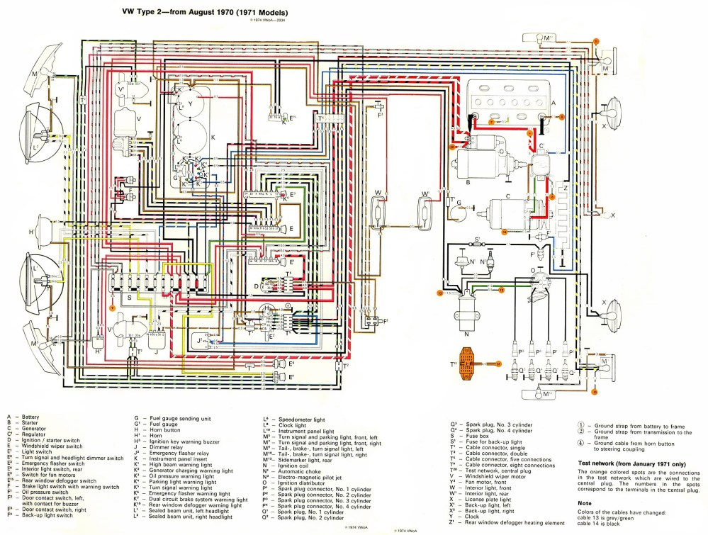 medium resolution of thesamba com type 2 wiring diagrams rh thesamba com 1972 vw wiring diagram for lights 1972 vw engine diagram