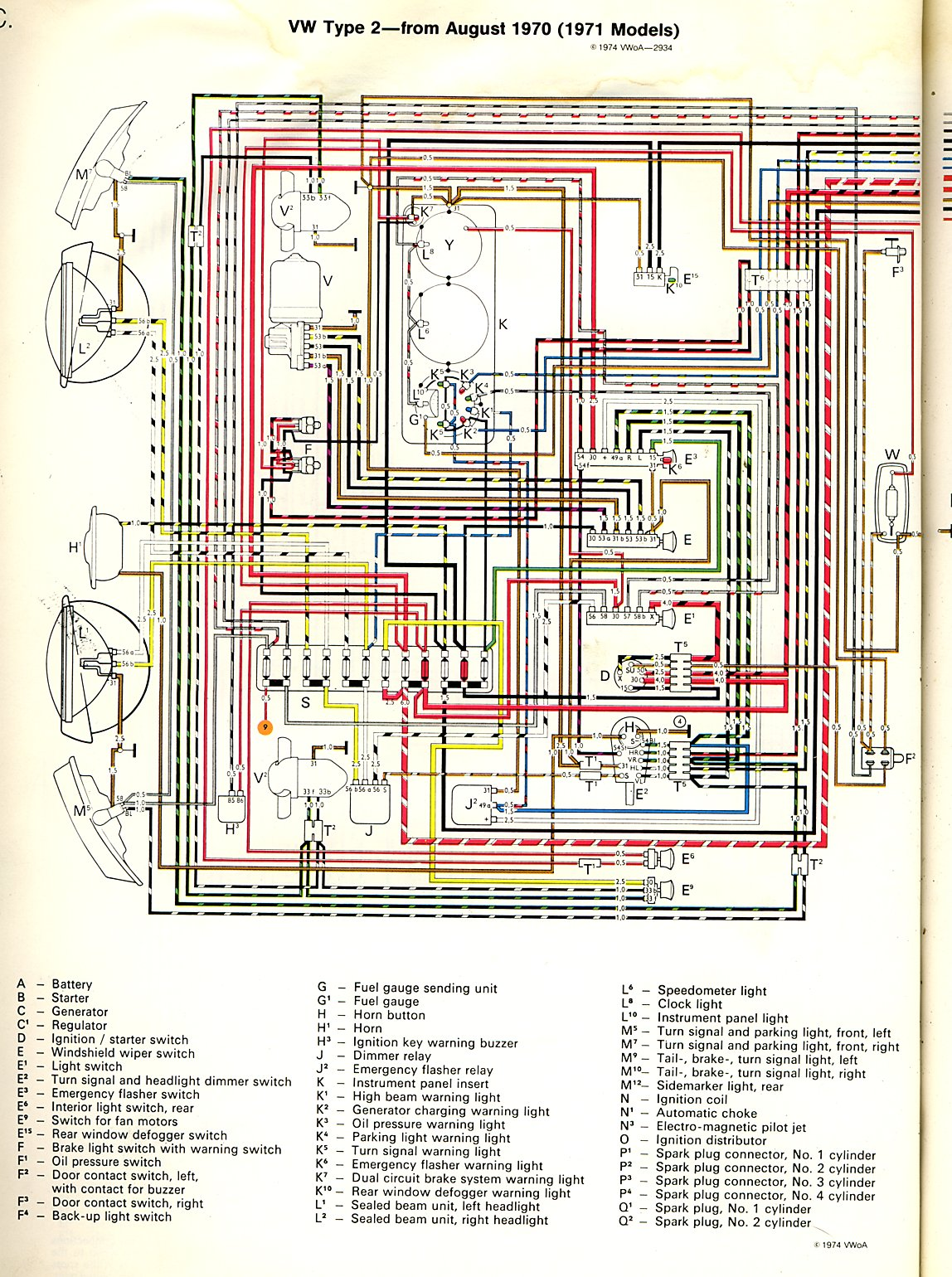 hight resolution of thesamba com type 2 wiring diagrams 2011 vw jetta fuse diagram vw 1971 fuse diagram
