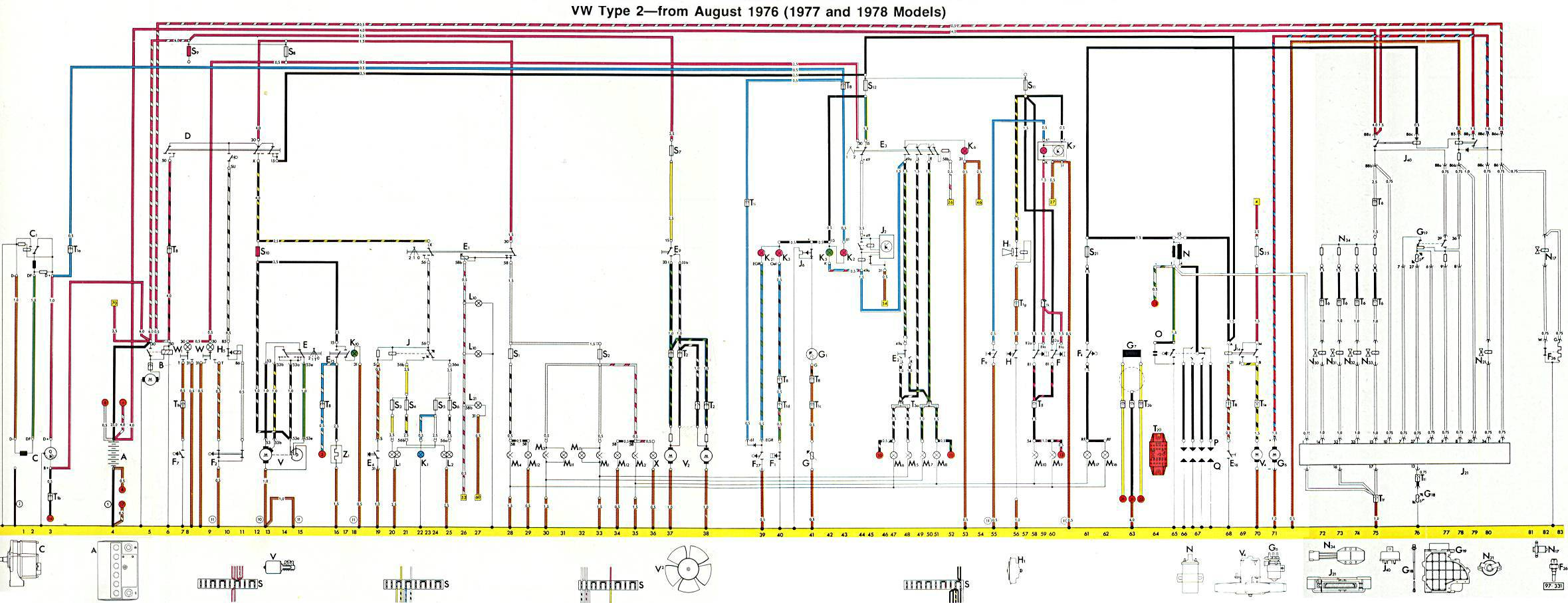 1978 vw bus wiring diagram ez go textron battery schematic manual e books fuse 78
