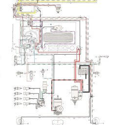 thesamba com type 1 wiring diagrams 1971 vw alternator wiring diagram [ 1200 x 1621 Pixel ]