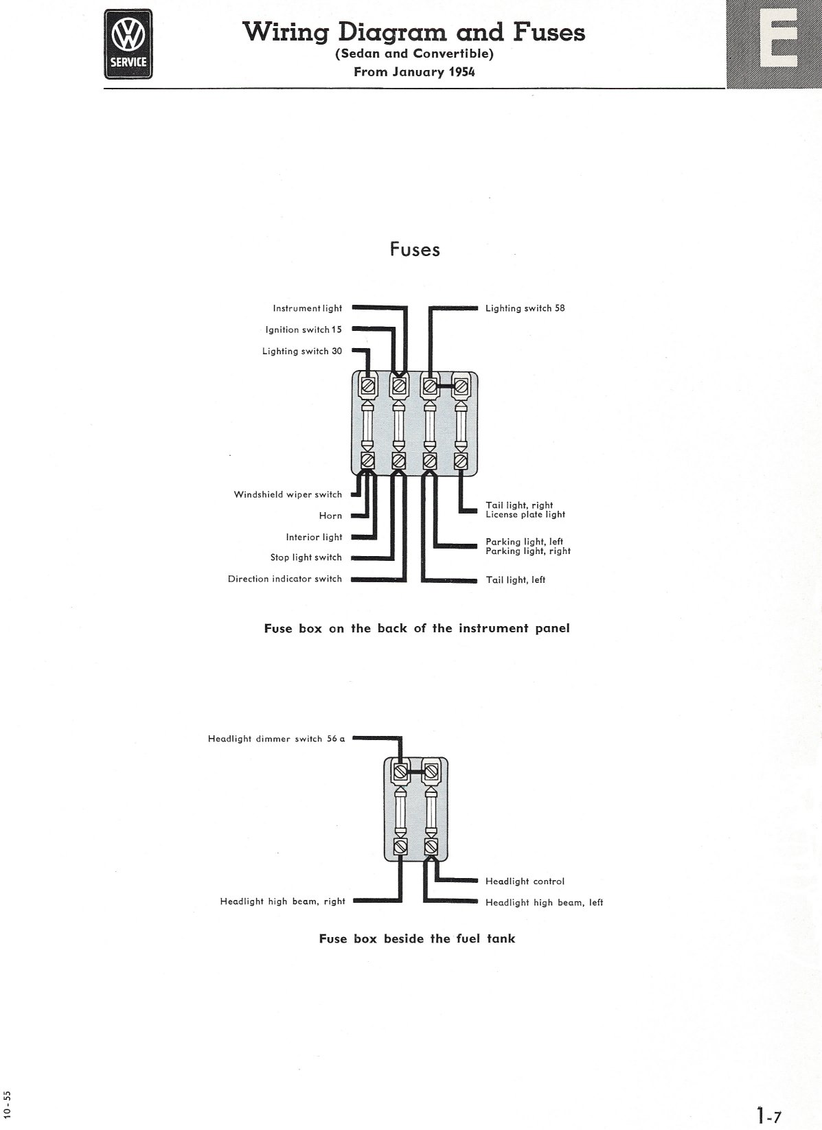 hight resolution of thesamba com type 1 wiring diagrams1954 ford convertable wiring diagram 16