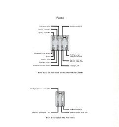 thesamba com type 1 wiring diagrams1965 vw bug fuse block diagram 5 [ 2395 x 3292 Pixel ]