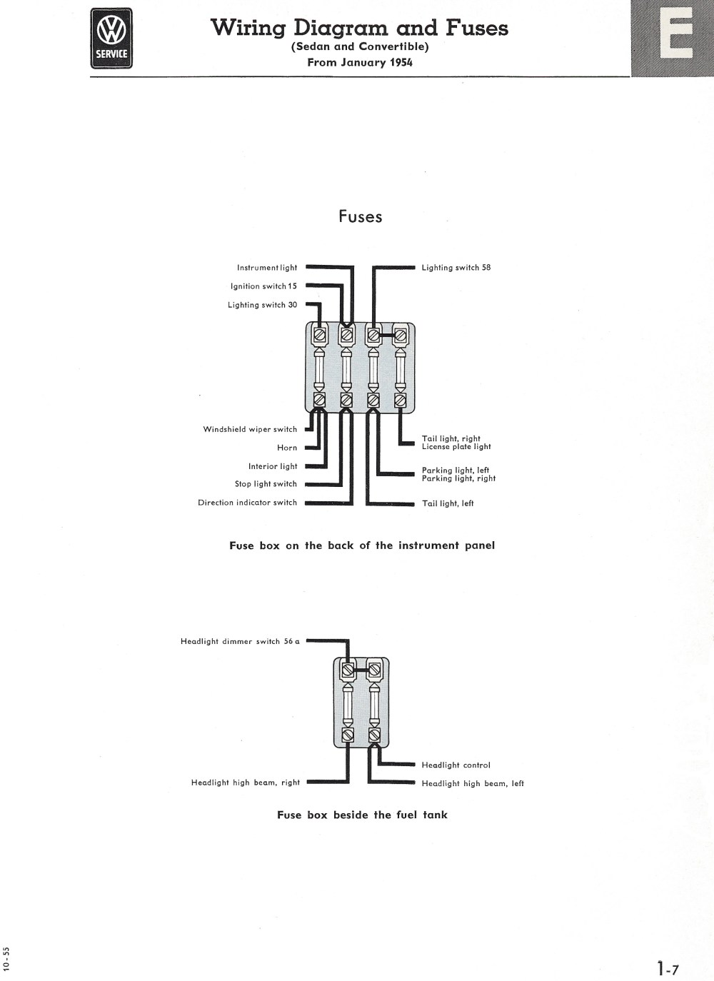 medium resolution of thesamba com type 1 wiring diagrams1965 vw bug fuse block diagram 5