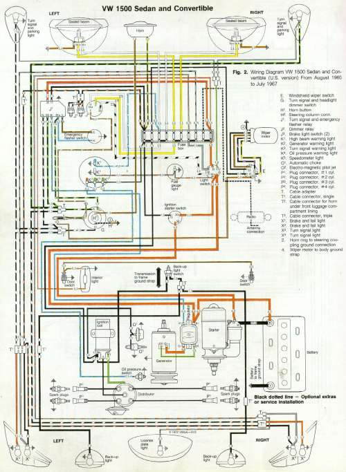 small resolution of thesamba com type 1 wiring diagrams rh thesamba com 1964 vw beetle wiring diagram 1974 vw