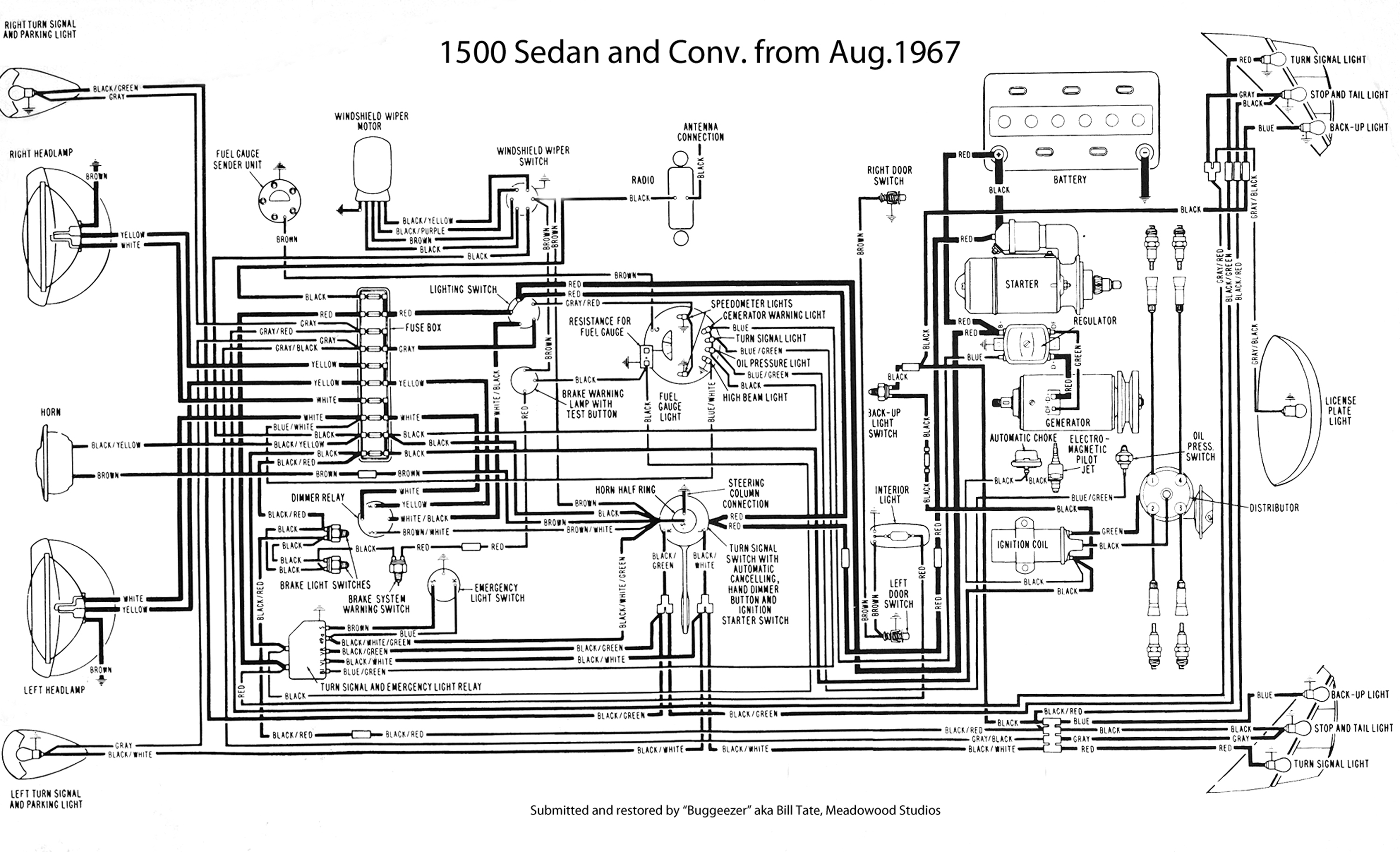 1968 Vw Bug Fuse Diagram