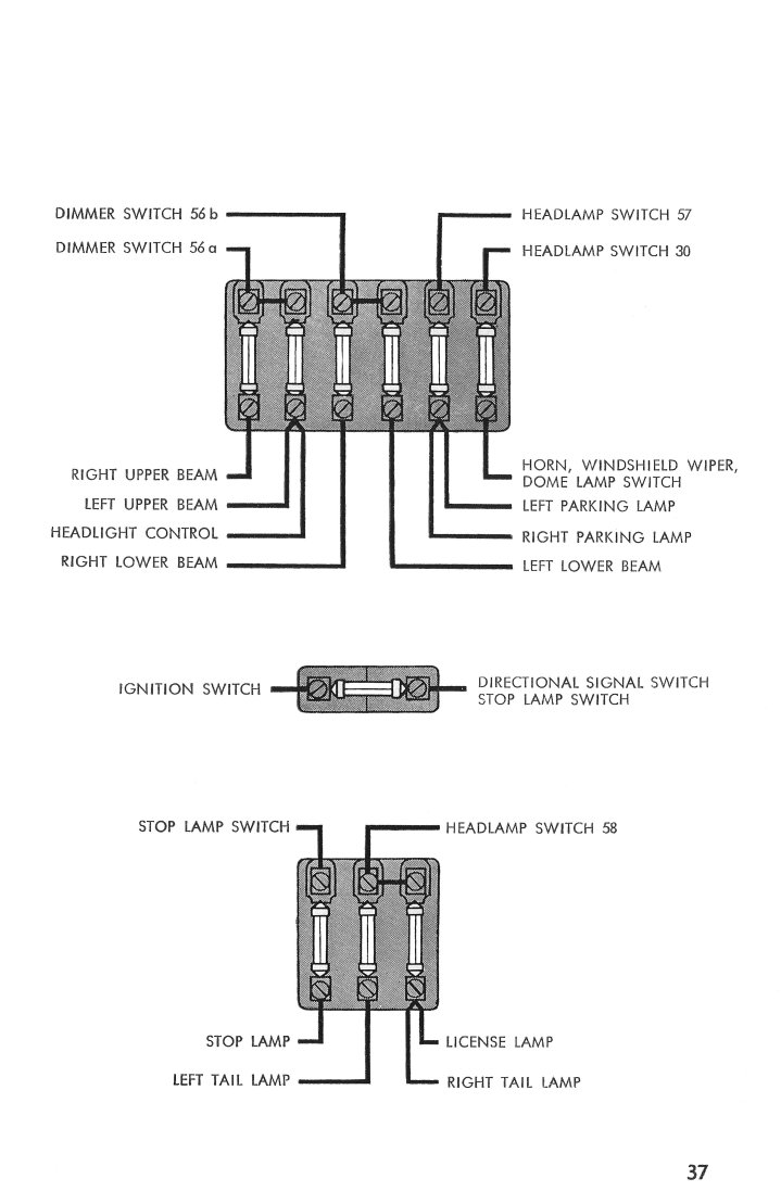 1970 vw beetle headlight switch wiring diagram