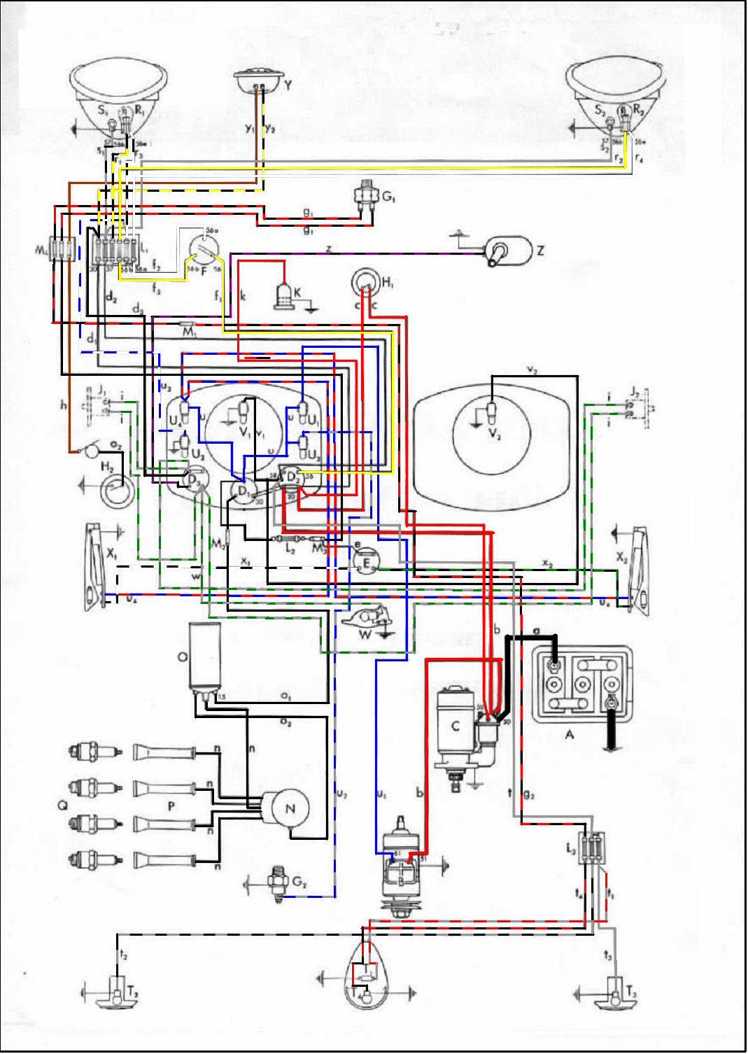 Volkswagen Cabrio Fuse Box Diagram Thesamba Com Type 1 Wiring Diagrams