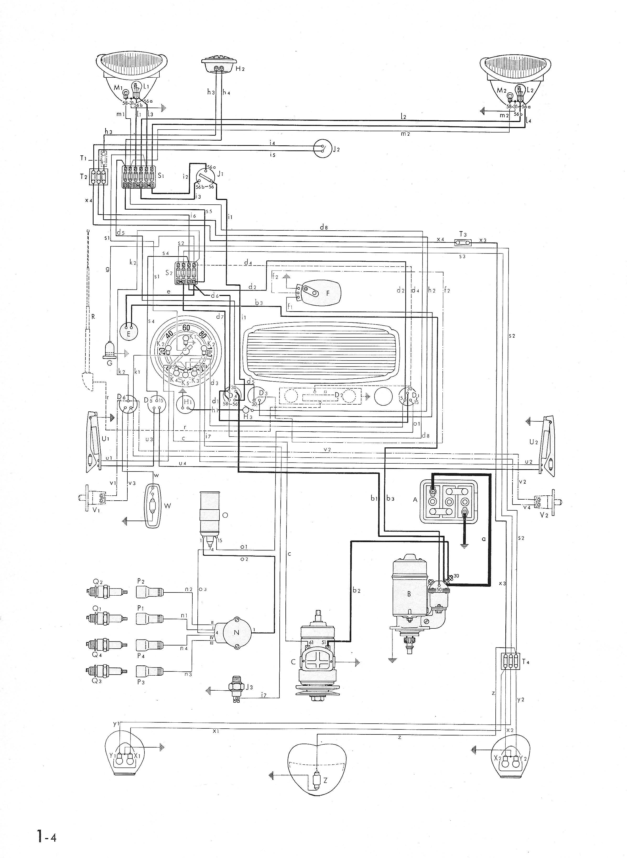 1969 vw bug radio wiring diagrams