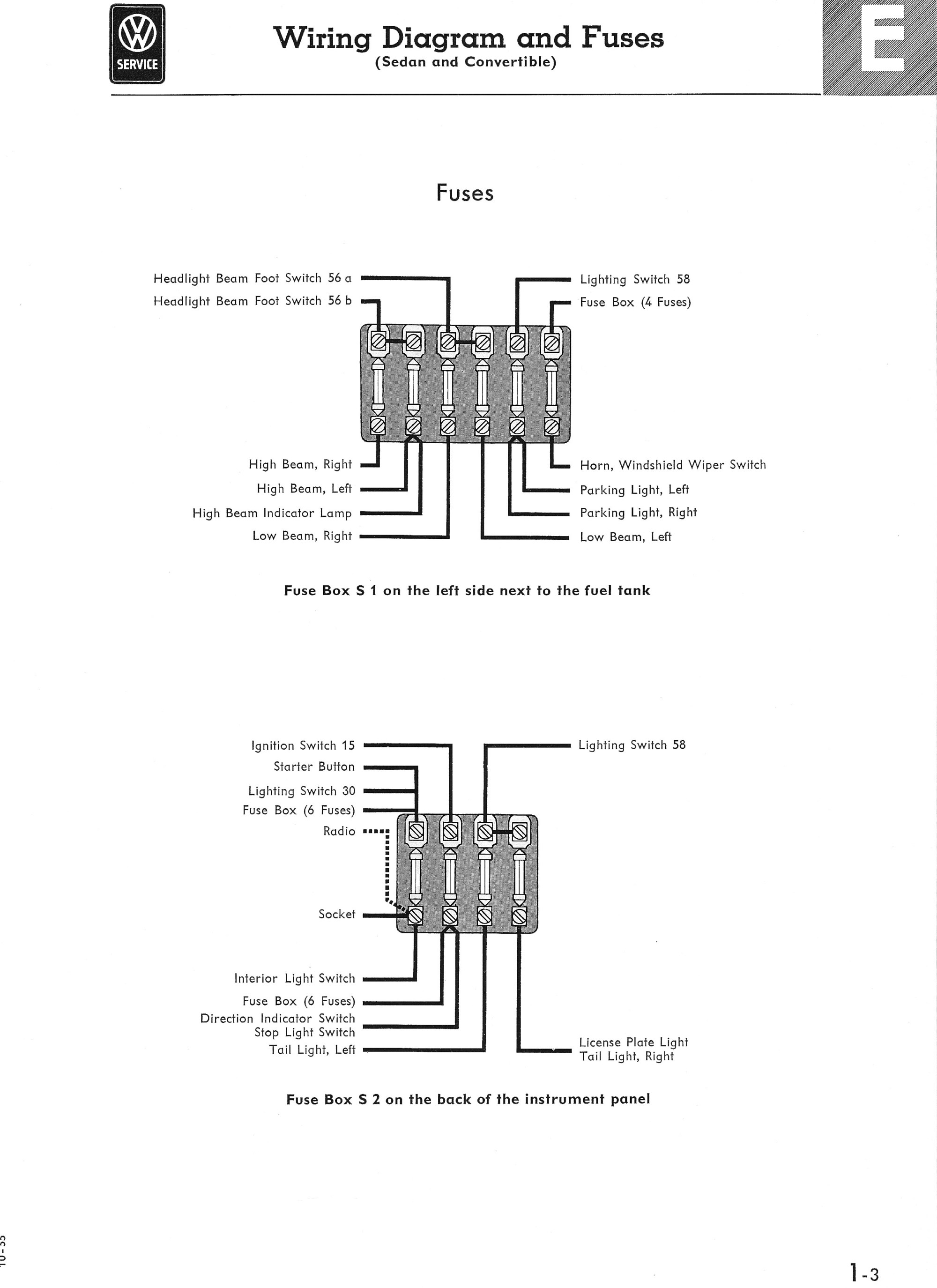 hight resolution of 1974 type 1 vw beetle fuse box diagram