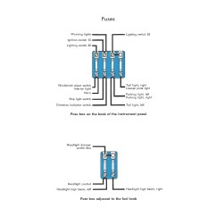 Wiring Diagram Headlight Dimmer Switch Double Capacitor Single Phase Motor Thesamba Com Type 1 Diagrams