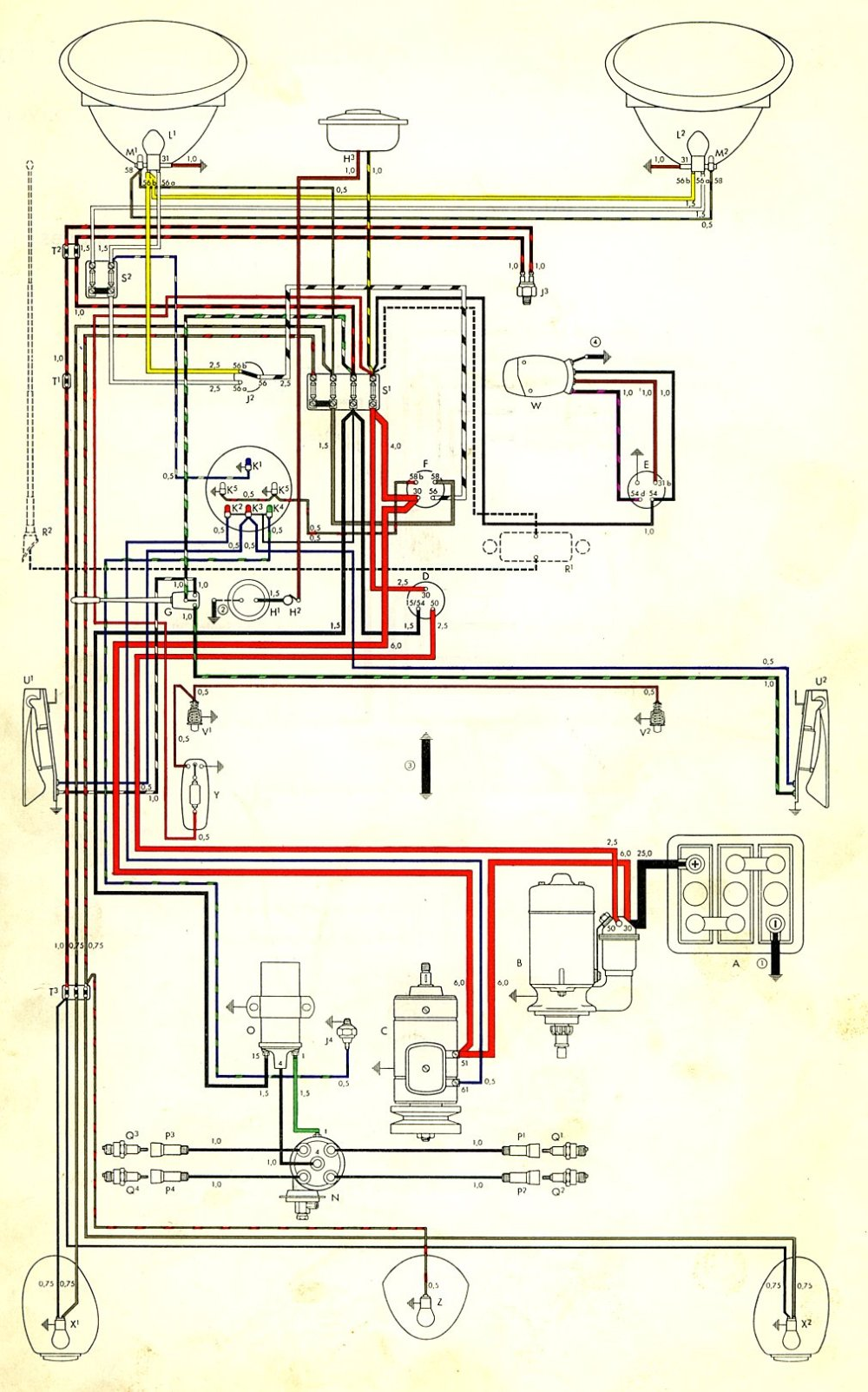 medium resolution of 1955 pontiac turn signal wiring diagram