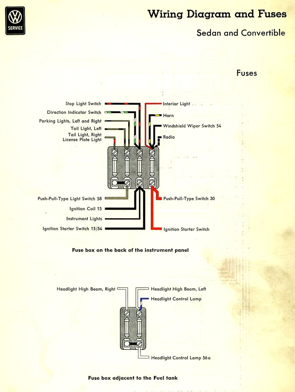medium resolution of thesamba com type 1 wiring diagrams 1966 volkswagen beetle headlight switch wiring