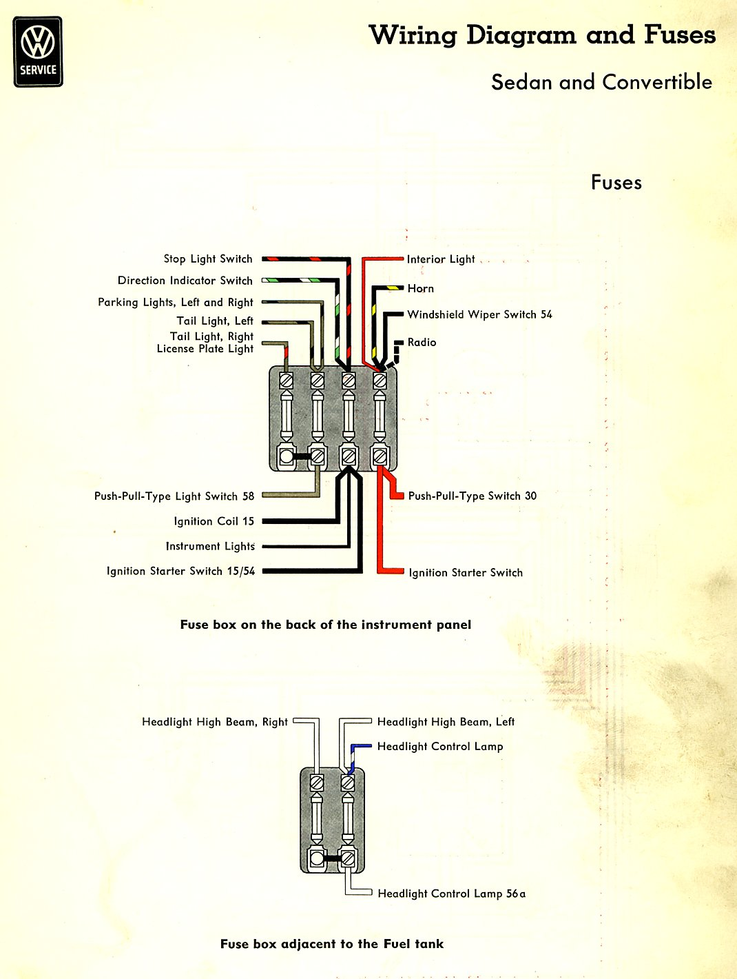 hight resolution of thesamba com type 1 wiring diagrams 1966 volkswagen beetle headlight switch wiring