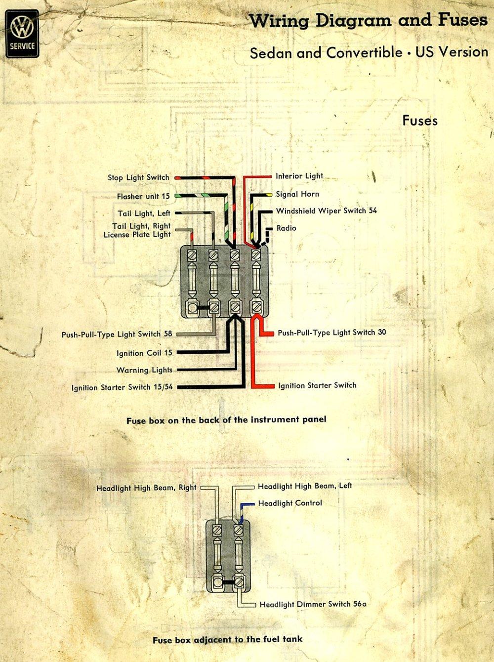 medium resolution of 58 vw beetle fuse box wiring diagram yer 58 vw beetle fuse box