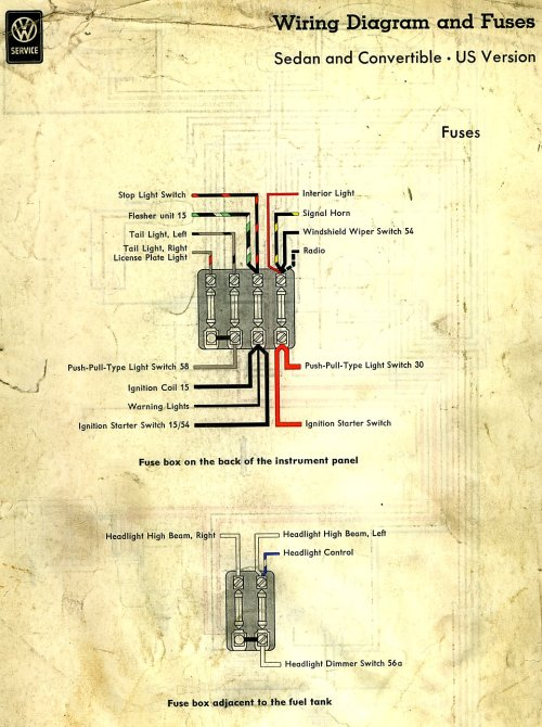 small resolution of 58 vw beetle fuse box wiring diagram yer 58 vw beetle fuse box