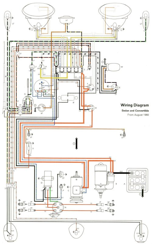 small resolution of thesamba com type 1 wiring diagrams 2013 beetle fuse panel diagram vw beetle fuse diagram