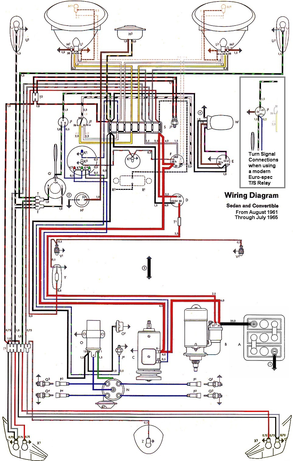 medium resolution of thesamba com type 1 wiring diagrams vw super beetle wiring 1973 vw beetle wiring diagram