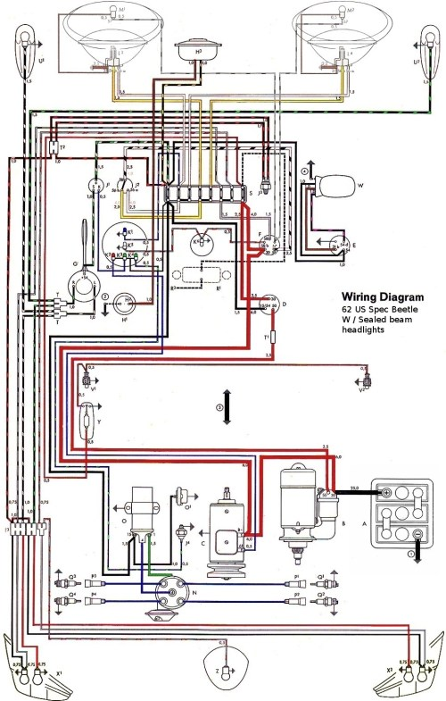 small resolution of thesamba com type 1 wiring diagrams rh thesamba com replace a turn signal relay 1998 ford