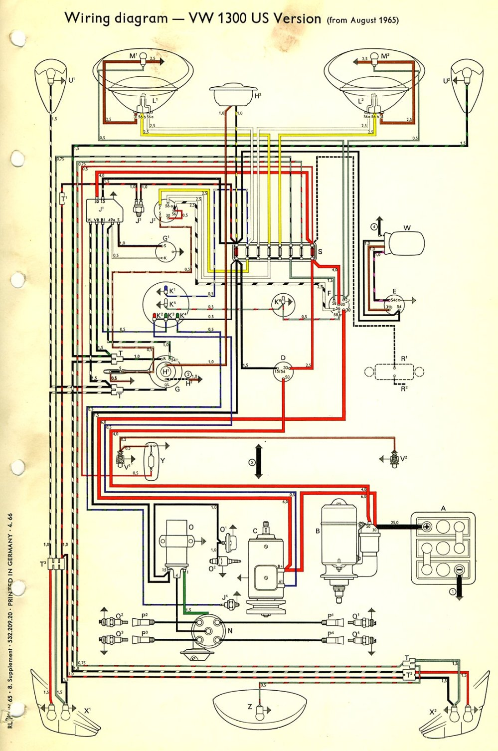 medium resolution of air cooled vw wire diagram wiring diagram schema thesamba com type 1 wiring diagrams air cooled
