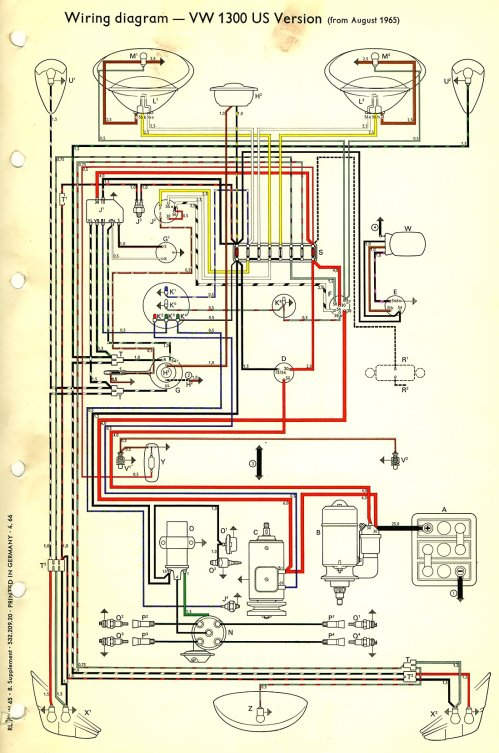 small resolution of vw beetle wiring diagram light